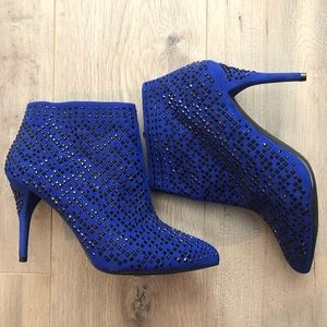 Fancy royal blue booties